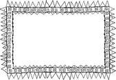Hand-drawn doodle frame — Cтоковый вектор