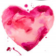 Watercolor heart. Concept - love, relationship, art, painting — Stock Photo #37671129