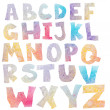 Stock Photo: Watercolor alphabet