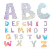 Watercolor alphabet — Stock Photo