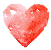 Watercolor heart. Concept - love, relationship, art, painting — Stock Photo
