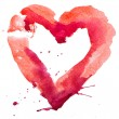 Watercolor heart. Concept - love, relationship, art, painting — Stock Photo #37922409