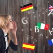 Постер, плакат: Foreign Language Concept learning speaking travel