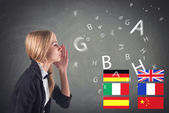 Foreign Language. Concept - learning, speaking, travel — Stock Photo