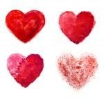 Love heart paint watercolour — Stock Photo