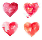 Love heart paint watercolour — Stock Photo