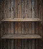 Wood shelf, grunge industrial interior — Stock Photo