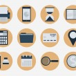 Modern flat icons vector collection, web design objects, business, finance, office and marketing items. — Vettoriale Stock