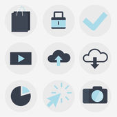 Modern flat icons vector collection, web design objects, business, finance, office and marketing items. — Stock Vector