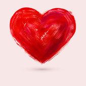 Watercolor heart, vector illustration — Vettoriale Stock