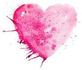 Corazón acuarela — Foto de Stock