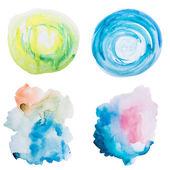 Beyaz zemin üzerine suluboya sanat el boya — Stok fotoğraf