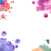 Abstract watercolor art hand paint on white background — Stock Photo
