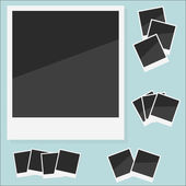 Empty photo Polaroid. Vector illustration — Stock Vector