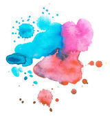 Colorful retro vintage abstract watercolour / aquarelle art hand paint on white background — Stock Photo