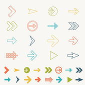 Arrow sign icon set doodle hand draw vector illustration of web design elements — Stock Vector