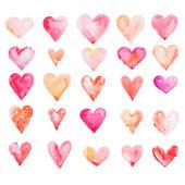 Watercolour hearts — Stock Photo