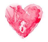 Watercolour heart — Stock Photo