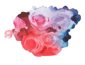 Abstract red blue watercolor, aquarelle art hand draw paint on white background — Stock Photo