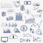 Business, finance infographics elements. — 图库矢量图片