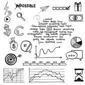 Social media sign and symbol doodles elements. — Stok fotoğraf
