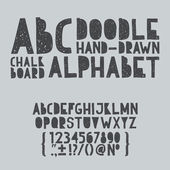 Hand draw doodle abc, alphabet grunge scratch type font vector illustration — Vetorial Stock