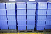 Blue Plastic box products. — Stock Photo