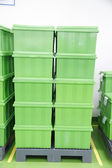 Green Plastic box products. — Stock Photo