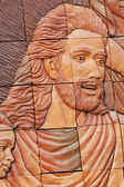 Focus Christ the sculpture stone carving. — Foto Stock