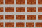 Stenen muur twee kleuren. — Stockfoto