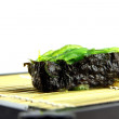 The seaweed Sushi on the dish. — Stock Photo