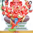 Red Statue Ganesh in temple. — ストック写真