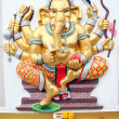 Glod Statue Ganesh in temple. — Foto Stock