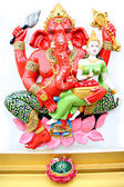 Red Statue Ganesh in temple. — Stock Photo