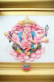 Ganesh estatua rosa en templo. — Foto de Stock