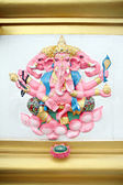 Pink Statue Ganesh in temple. — Stock Photo