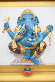 Blue Statue Ganesh in the temple. — Stock Photo