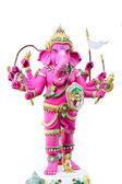 Pink Ganesh in the temple. — Stock Photo