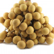 Truss Fruit - Longan on white background. — Stock Photo
