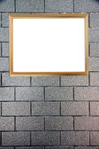 Gold frame on Background of stone. — Stock Photo