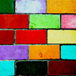 Wall made from of colorful bricks. — Stock Photo