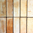 Old stone tile floor is a rectangular cloth. — Stock Photo