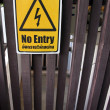 Stock Photo: Signs are not permitted No entry.