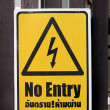 Signs are not permitted No entry. — Stock Photo