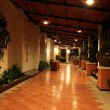 Corridors at night in The hotel. — Stock Photo