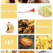 Mix Picture Junk food for Health. — Stock Photo