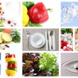 Mix The foods and Fruit Picture for Health. — Stock Photo