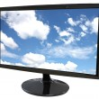 LED computer screen and Blue Sky Picture. — Stock Photo #30494419