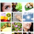 Mix Picture for Health life in frame. — Stock Photo