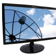 Frame LED computer and Satellite dish screen. — Stock Photo #30699835